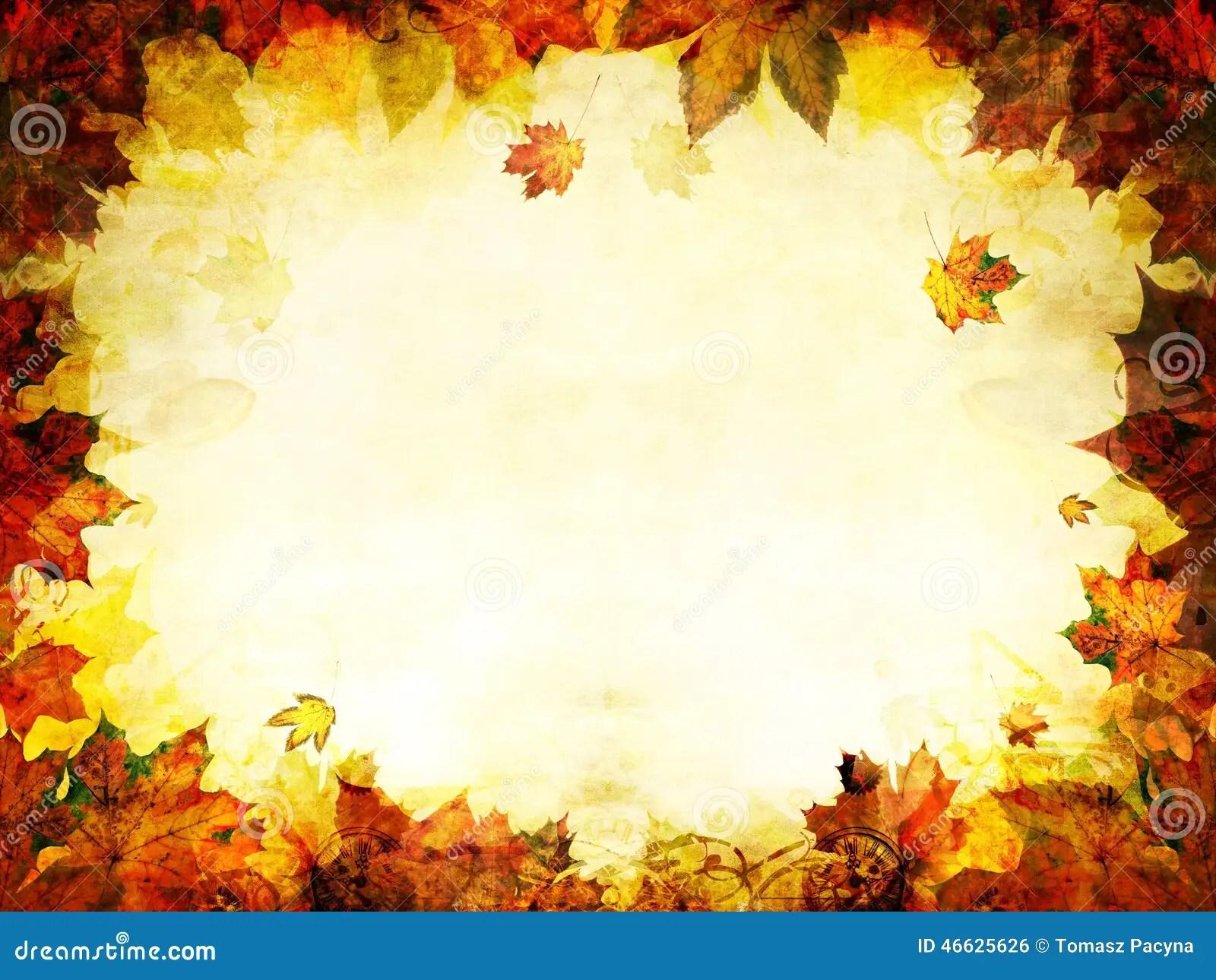 Free Fall Halloween Wallpaper Fondo De Oro Del Marco De Las Hojas De Oto 241 O Foto De