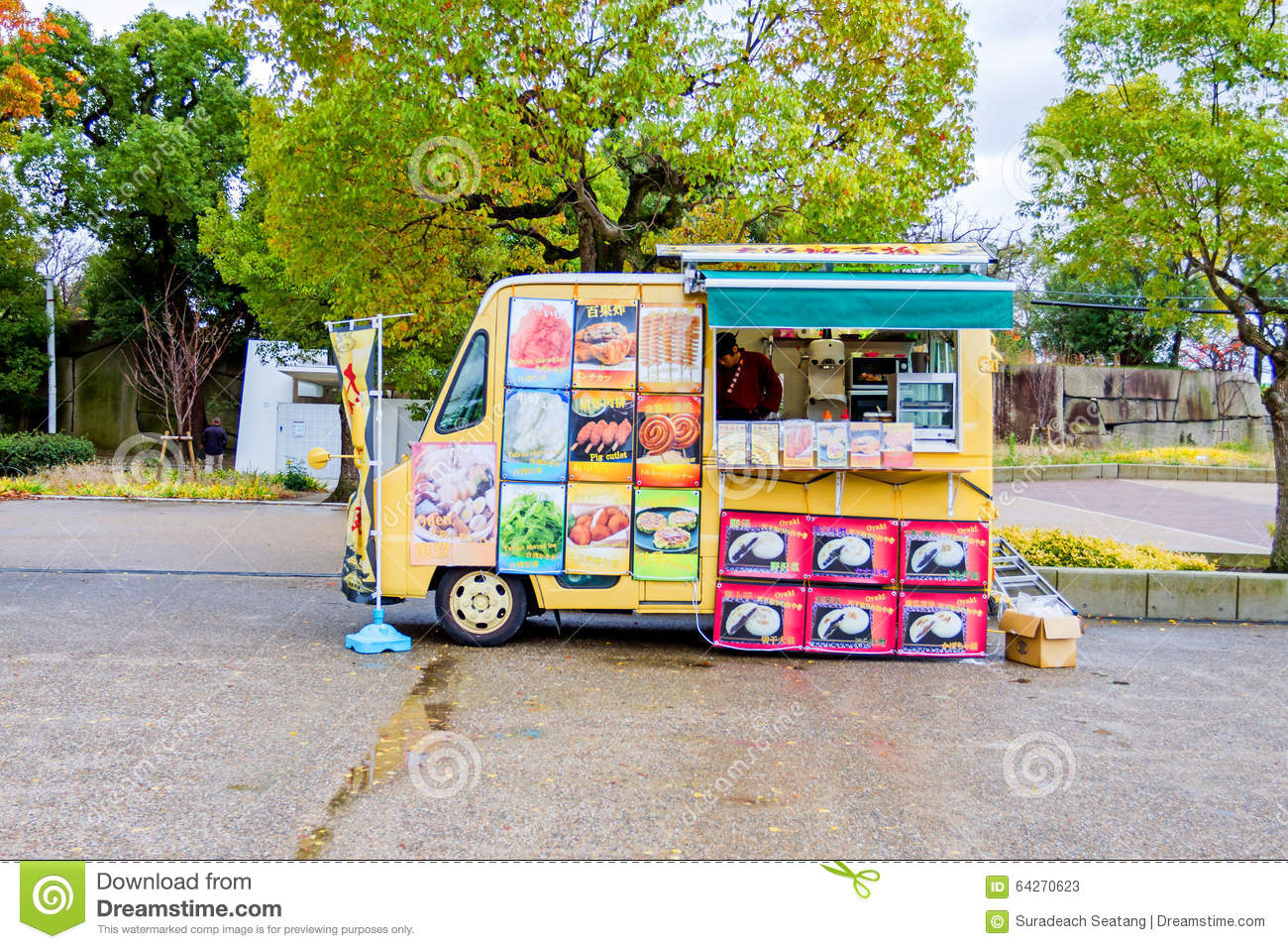 Japanese Cuisine Food Truck Food Truck In Osaka Castle Park Editorial Stock Photo