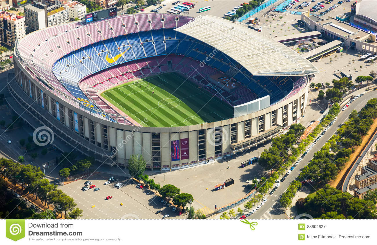 camp nou barcelona stadium editorial photography