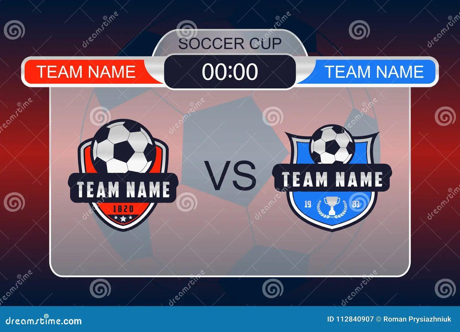 vector soccer scoreboard vector template stock photo