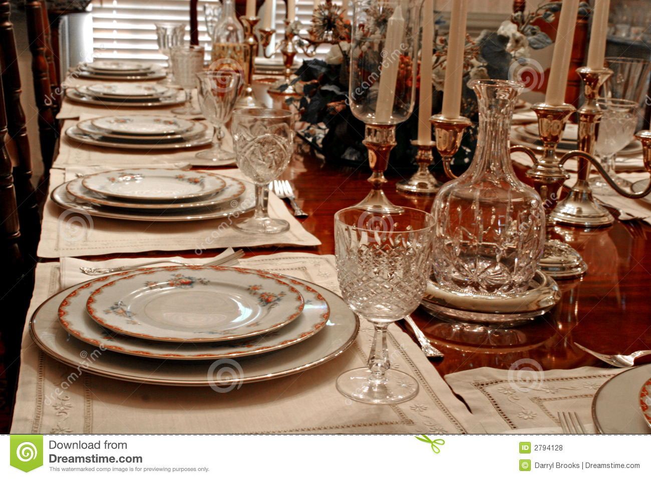 Formal Dining Room Table Set Up Quality Cherry Furniture