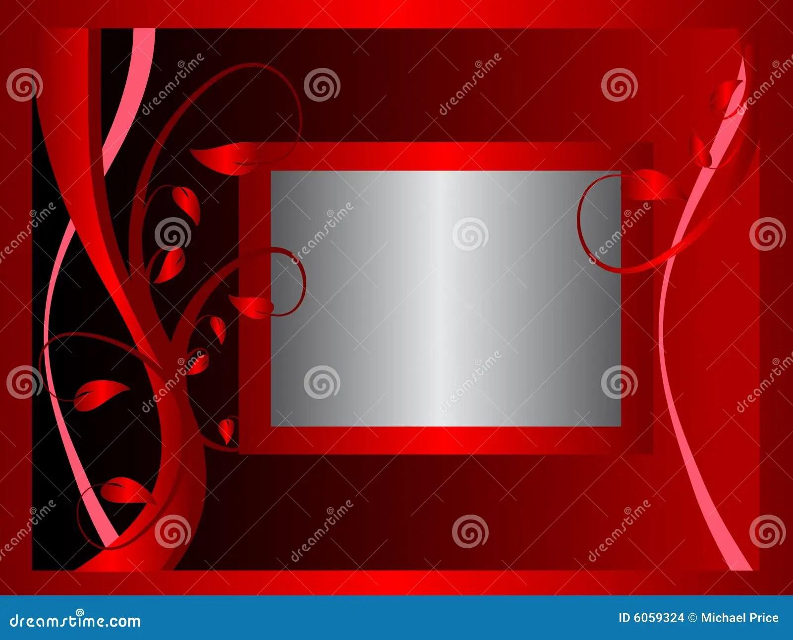 3d Metallic Wallpaper Formal Red Floral Background Stock Images Image 6059324