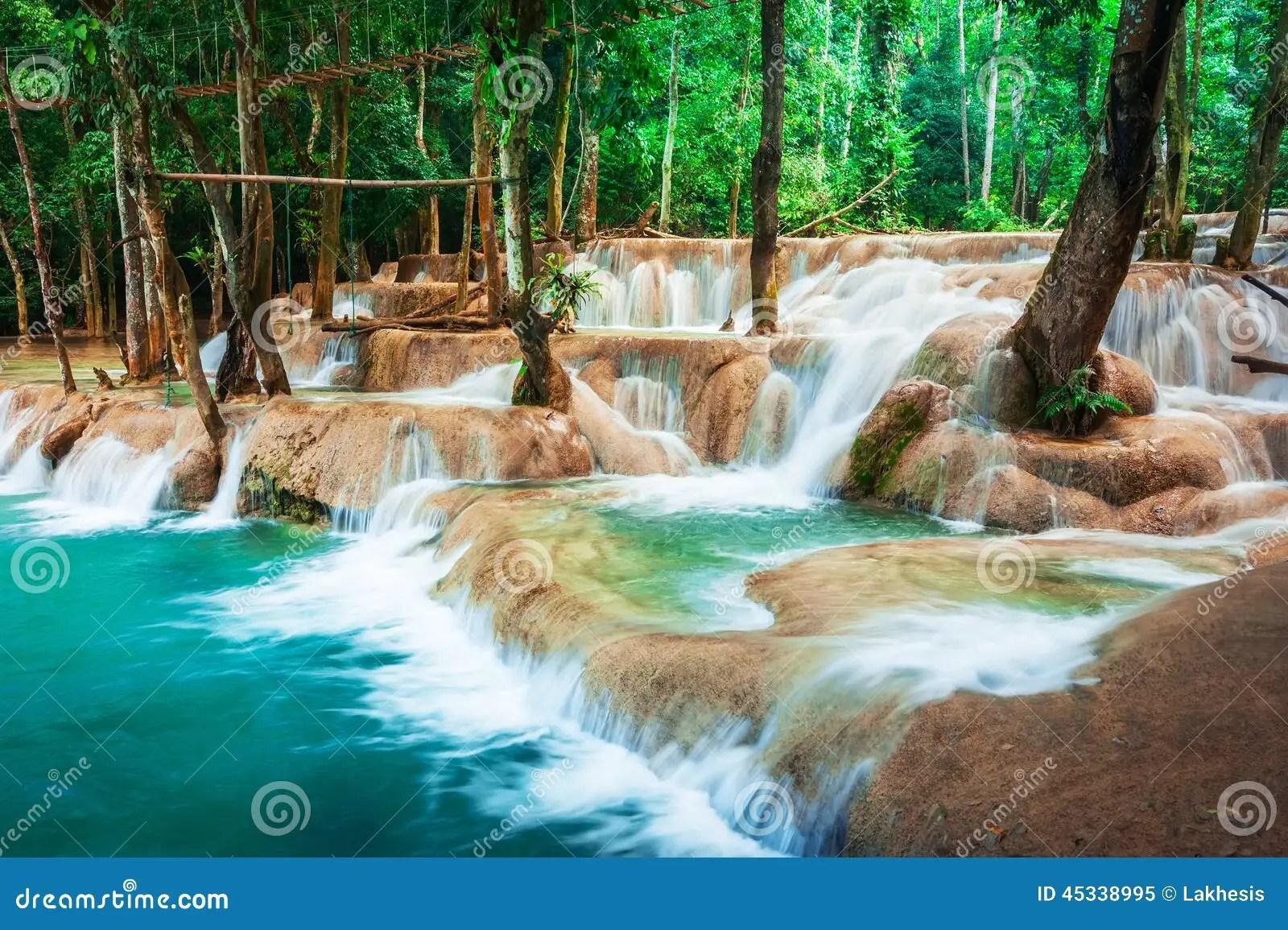 Kuang Si Falls Hd Wallpaper For 234 T Tropicale Tropicale Avec La Cascade De Cascade De