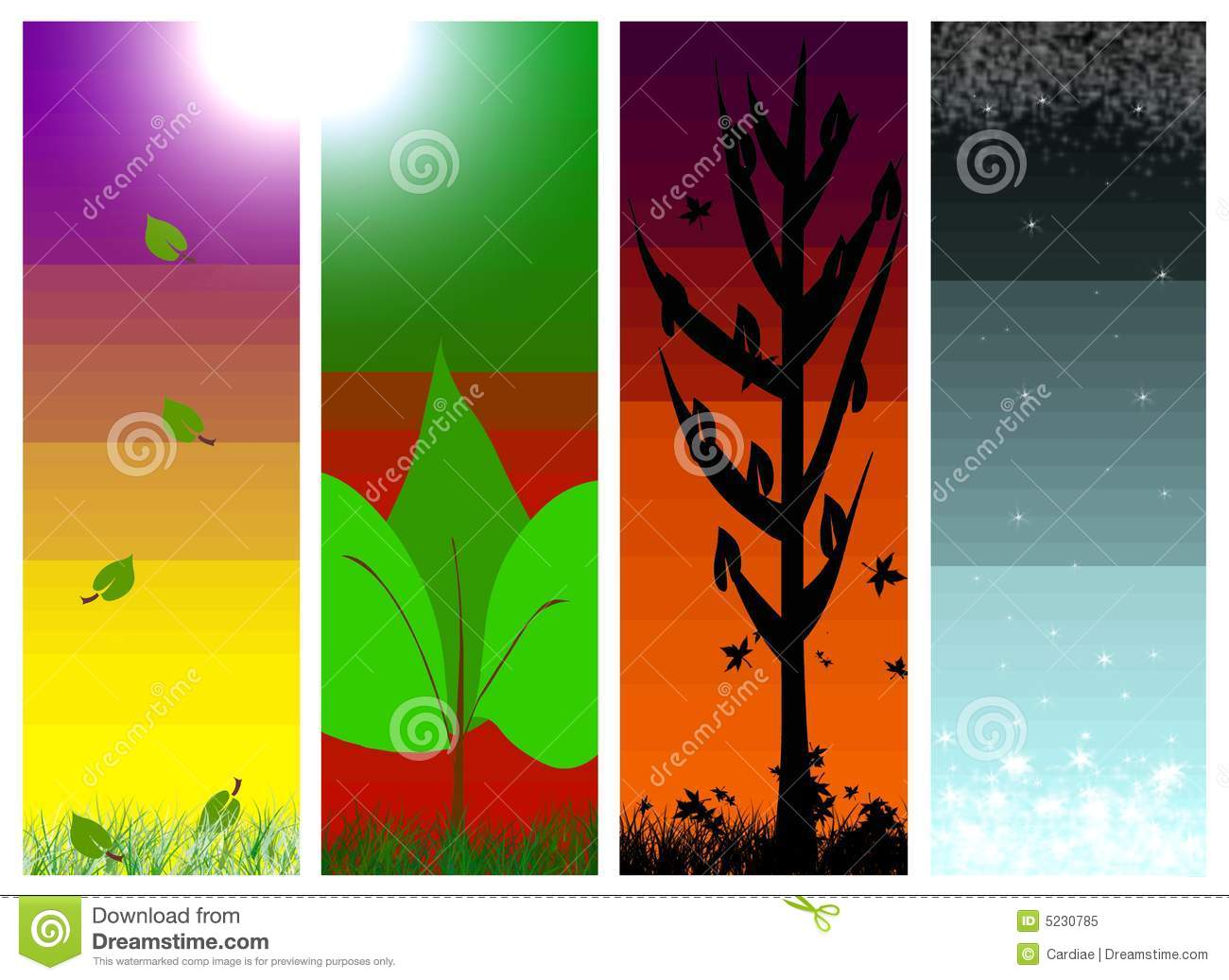 Free Fall Download Wallpaper Four 4 Seasons Of The Year Spring Summer Fall Wint Royalty