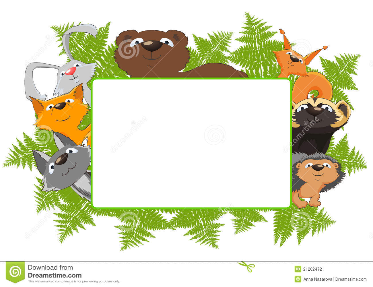 Fall Woodland Creatures Wallpaper Frame Of Forest Animals Stock Illustration Illustration