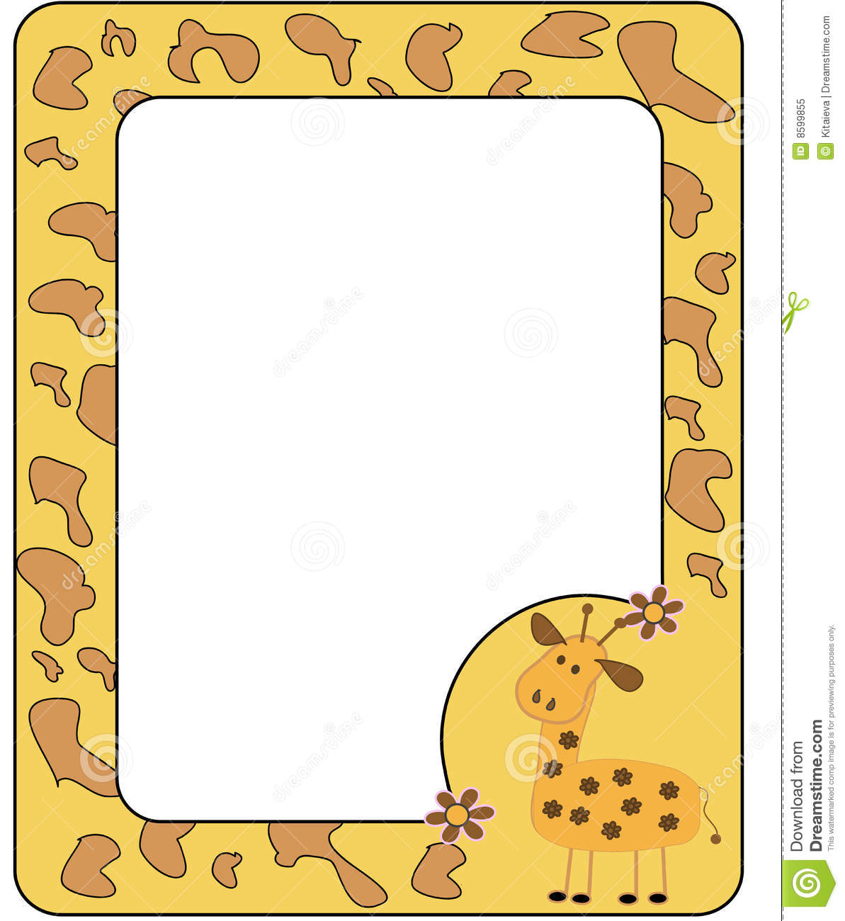 Animal Print Wallpaper Border Frame With Giraffe Royalty Free Stock Photo Image 8599855