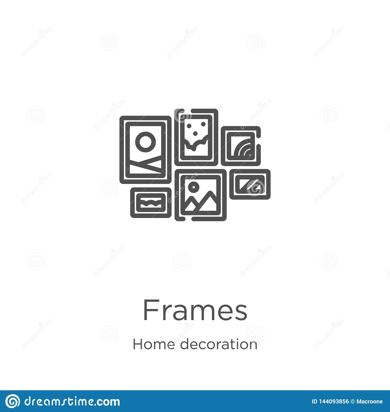 Home Decoration Collection Frames Icon Vector From Home Decoration Collection Thin Line