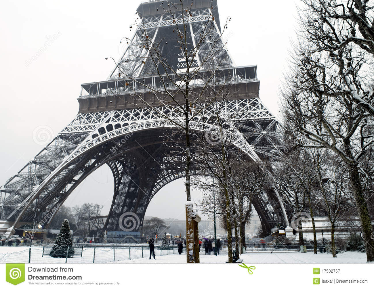Snow Falling At Night Wallpaper France Paris Under Snow Stock Image Image Of France