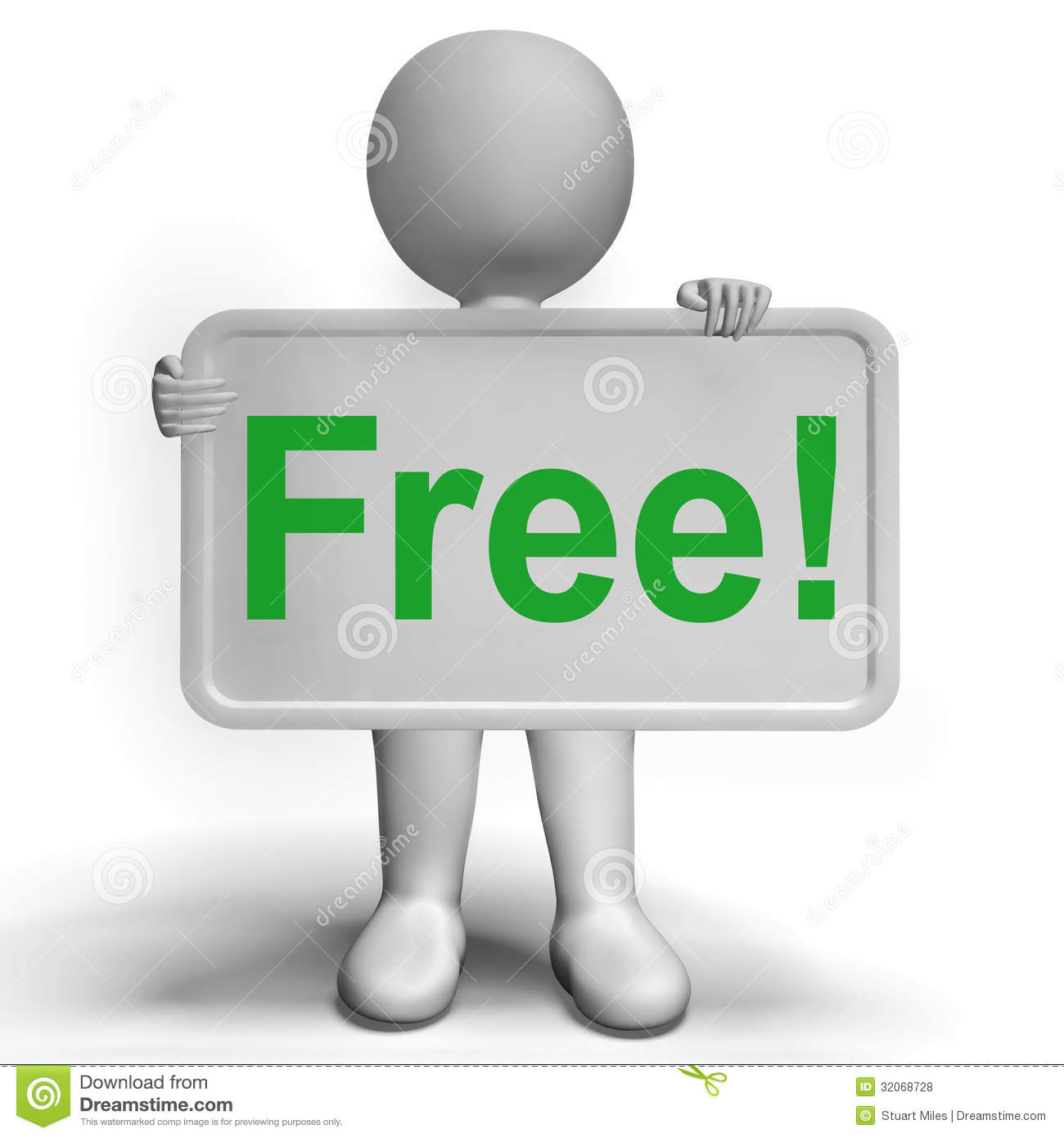 Foto Gratis Free Sign Shows Freebie Gratis And Promotion Stock Illustration