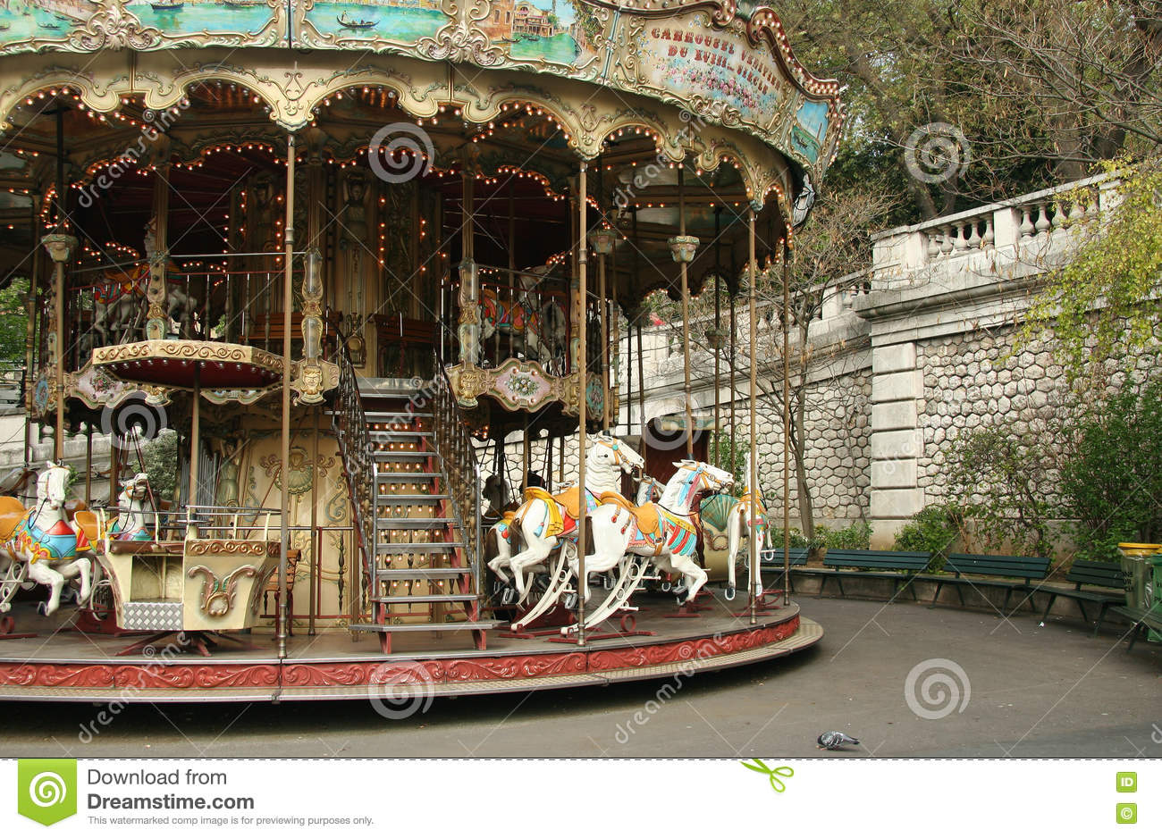 Karussell Kaufen French Old Carousel With Horses Stock Image Image Of Culture