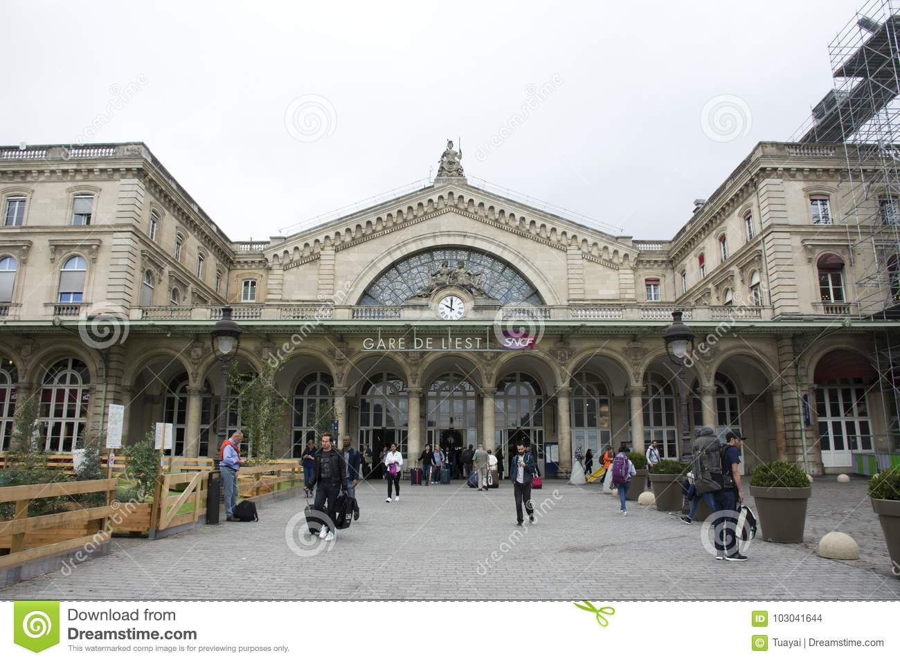Gare De Paris Gare De Paris Est Railway Station In Paris France Editorial Stock