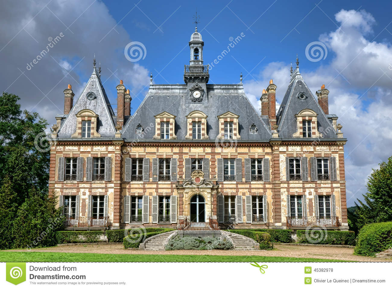 Maison Victorienne Minecraft French Renaissance Revival Antique Mansion Castle Stock