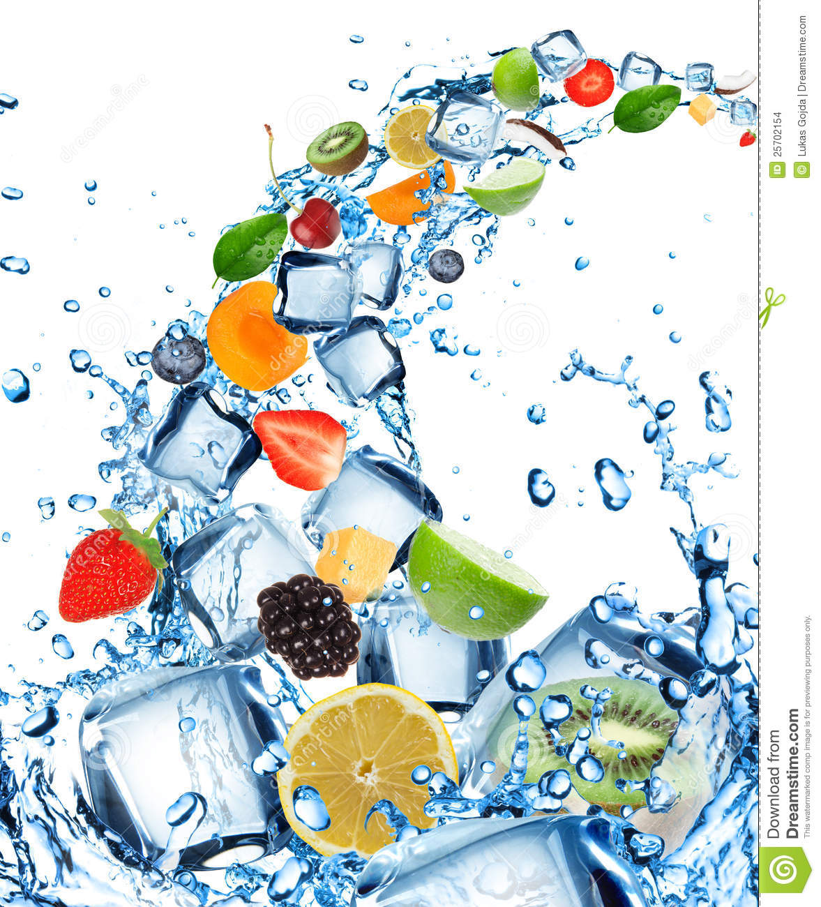 Fototapete Küche Obst Fresh Fruit In Water Splash Stock Photo Image Of Color