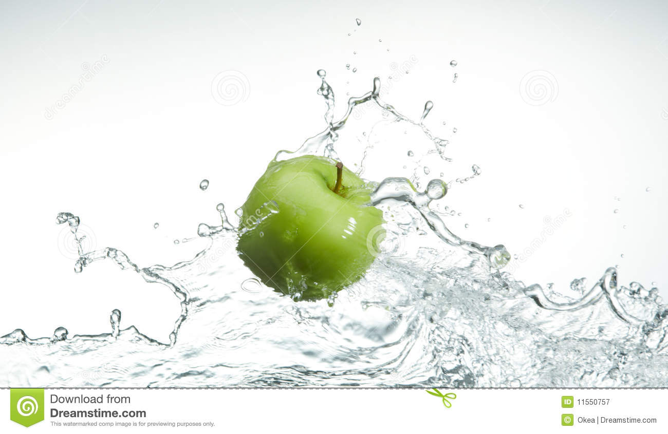 3d Wallpaper Red Blue Fresh Green Apple Royalty Free Stock Photography Image