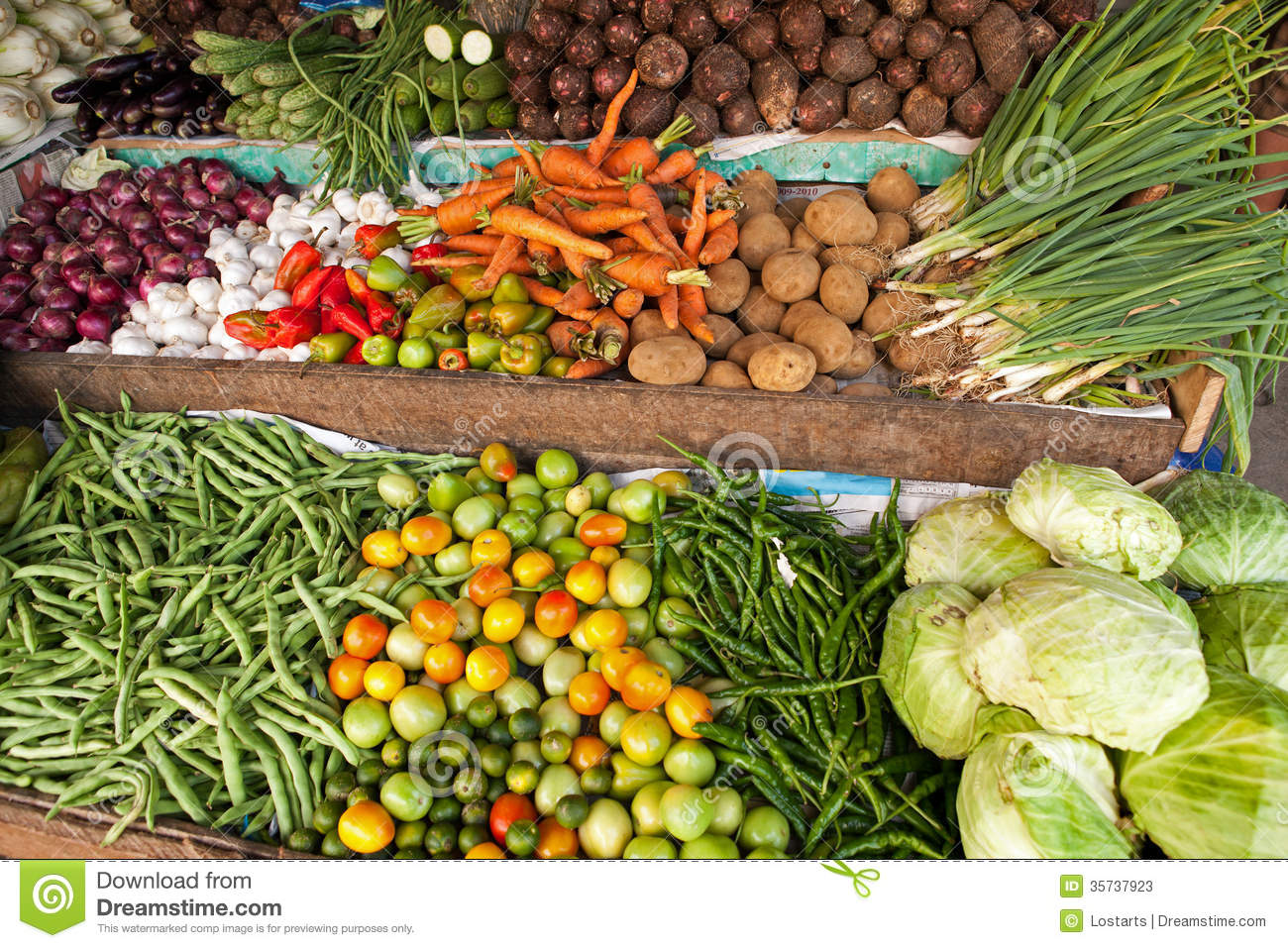 Fruit Bins For Sale Fresh Vegetables Stock Photos Image 35737923