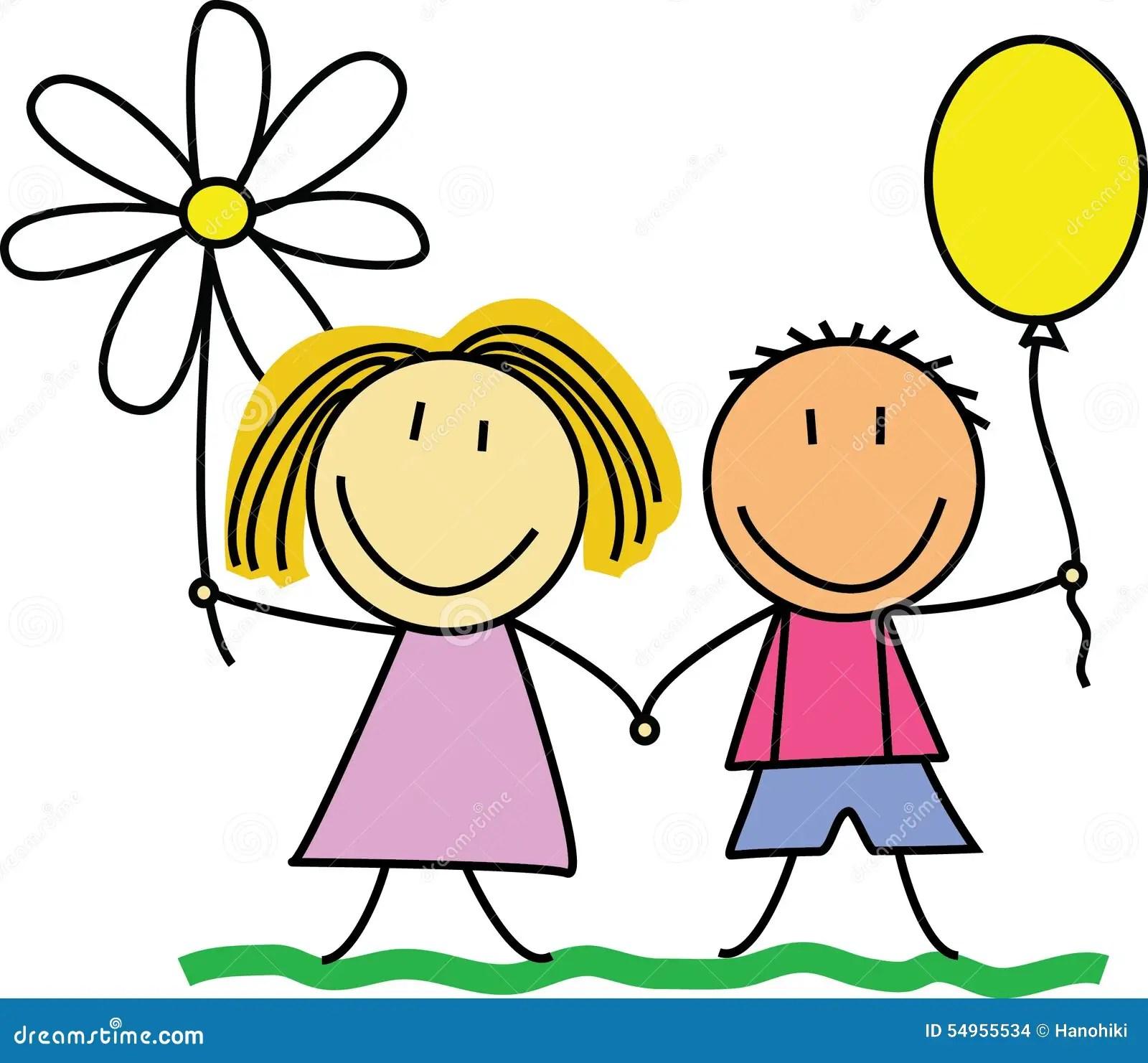 Cute Emoji Wallpapers For Girls Friends Friendship Kids Drawing Illustration Stock
