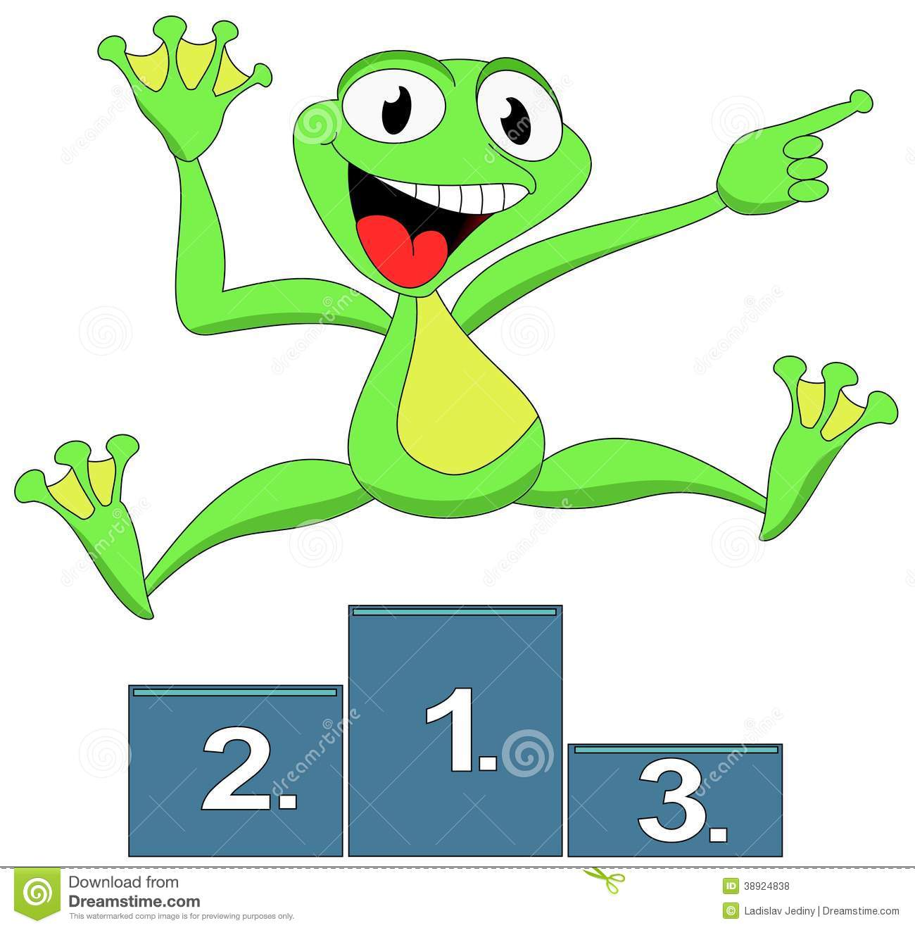 Sieger Clipart Frog Happy Winner Stock Illustration Image 38924838