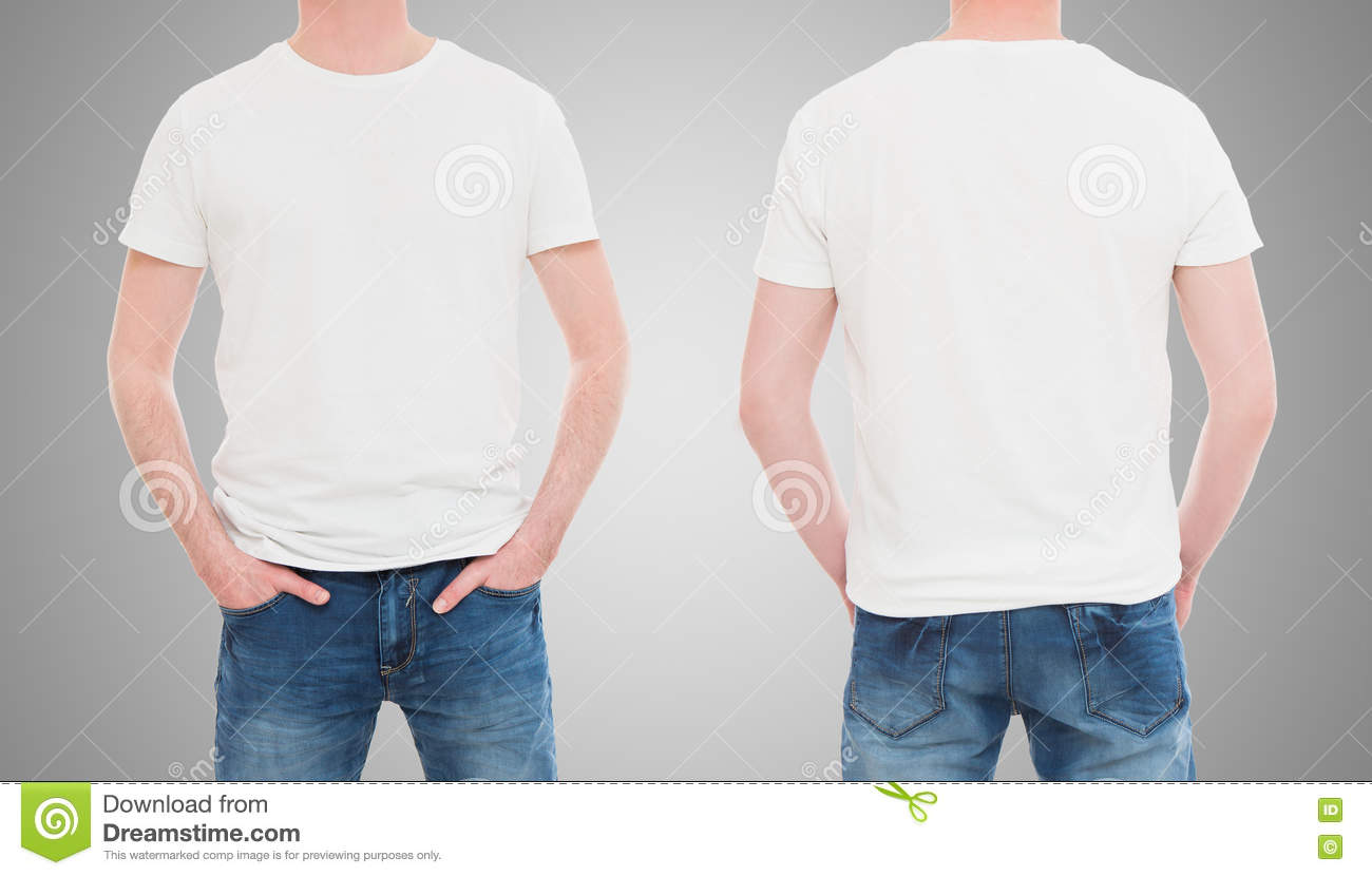 White t shirt front and back template - White T Shirt Front And Back Template Front And Back View Tshirt Template Download