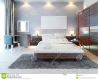 Front View Of The Bedroom In A Modern Style. Stock ...