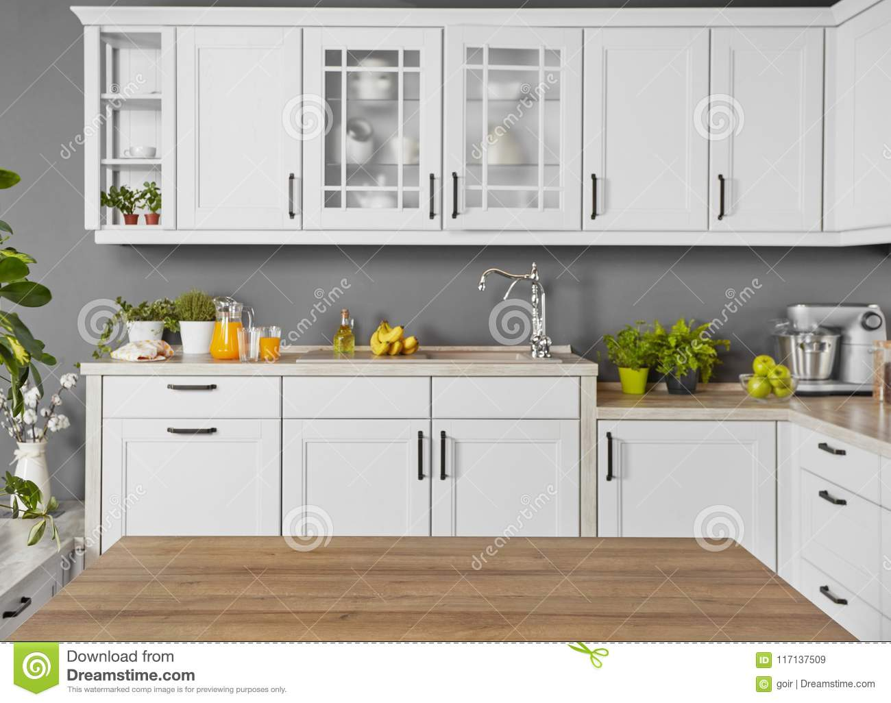 Counter Top In A Modern Kitchen Stock Image Image Of