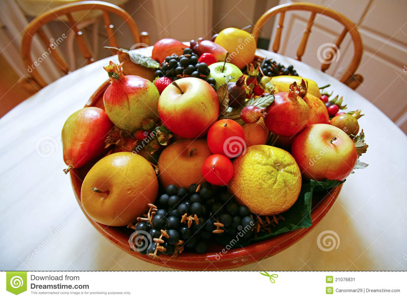 Table Top Fruit Basket Fruit Basket On The Table Stock Image Image Of Life