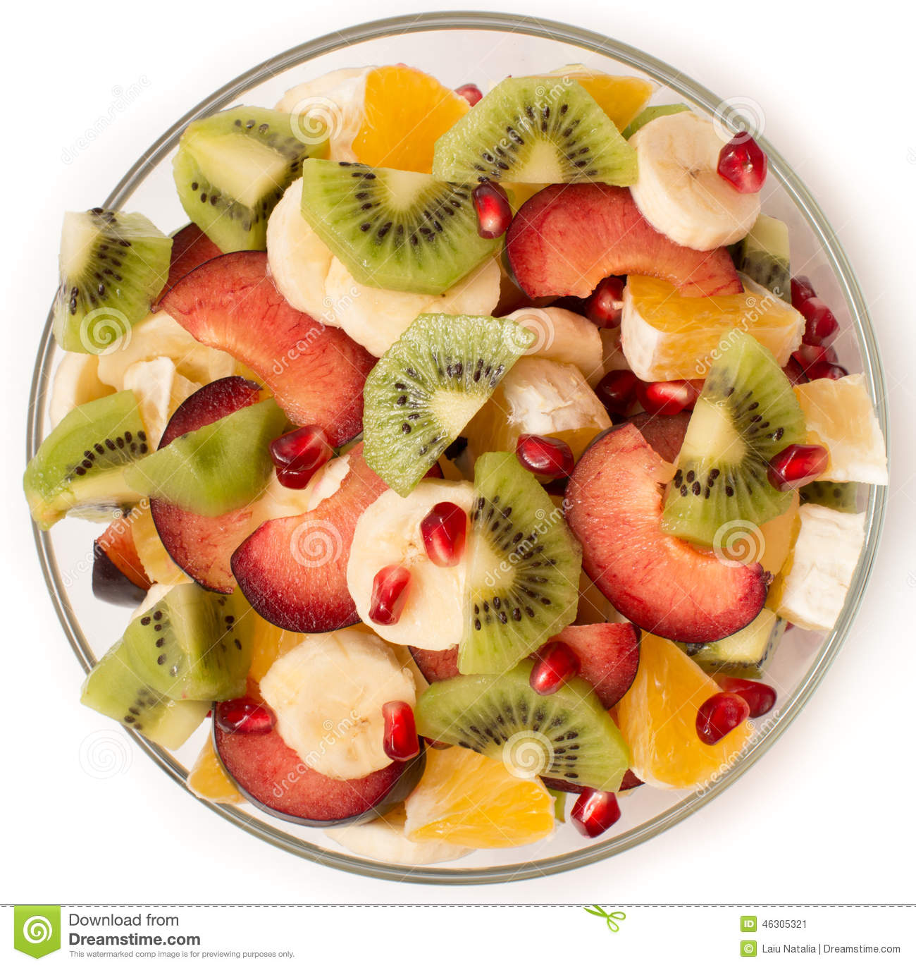 Saladier Fruit Fruit Salad In The Salad Bowl Stock Image Image Of Green