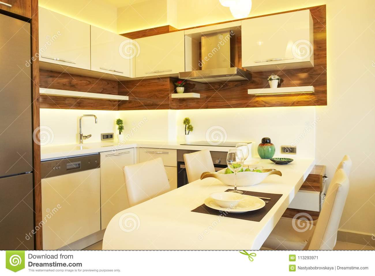 Kitchen Design Open Plan Beautiful Sun Side Appartment With Simple Minimalistic Modern