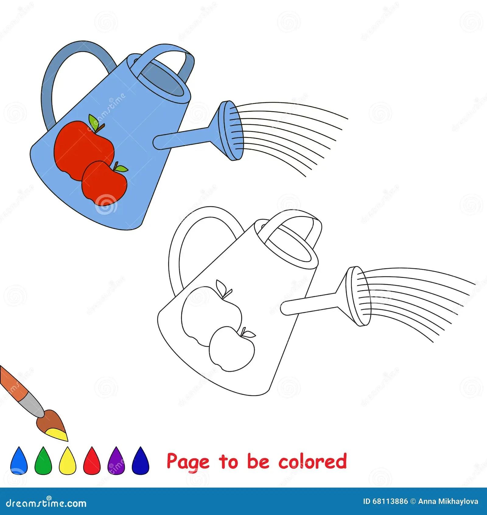 Fumetto Dell Annaffiatoio Pagina Da Colorare Illustrazione