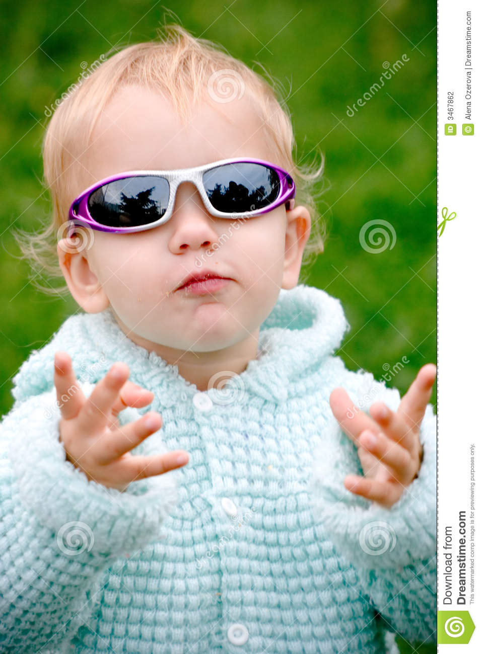 Baby Girl Blog Funny Child In Glasses Stock Photo Image Of Outdoors