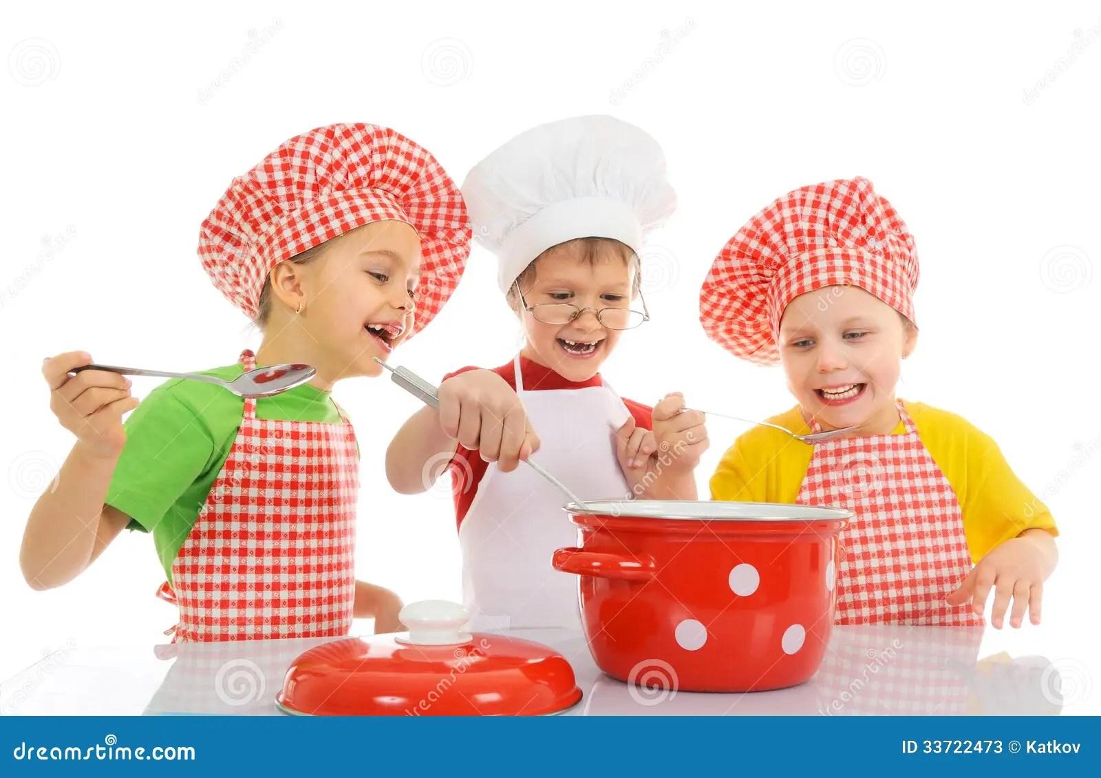 Cute Chef Wallpaper Funny Little Chefs Stock Image Image Of Idea Closeup