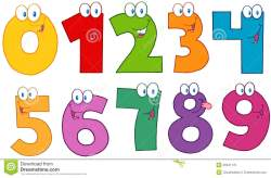Color funny numbers cartoon characters .Collection.