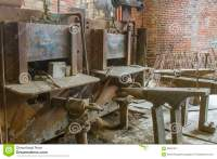 Furnaces In Blacksmith Shop Stock Photo - Image: 68657917