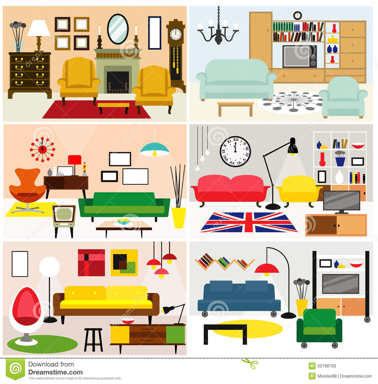 Wohnzimmer Cartoon Living Room Furniture Clip Art Cliparts