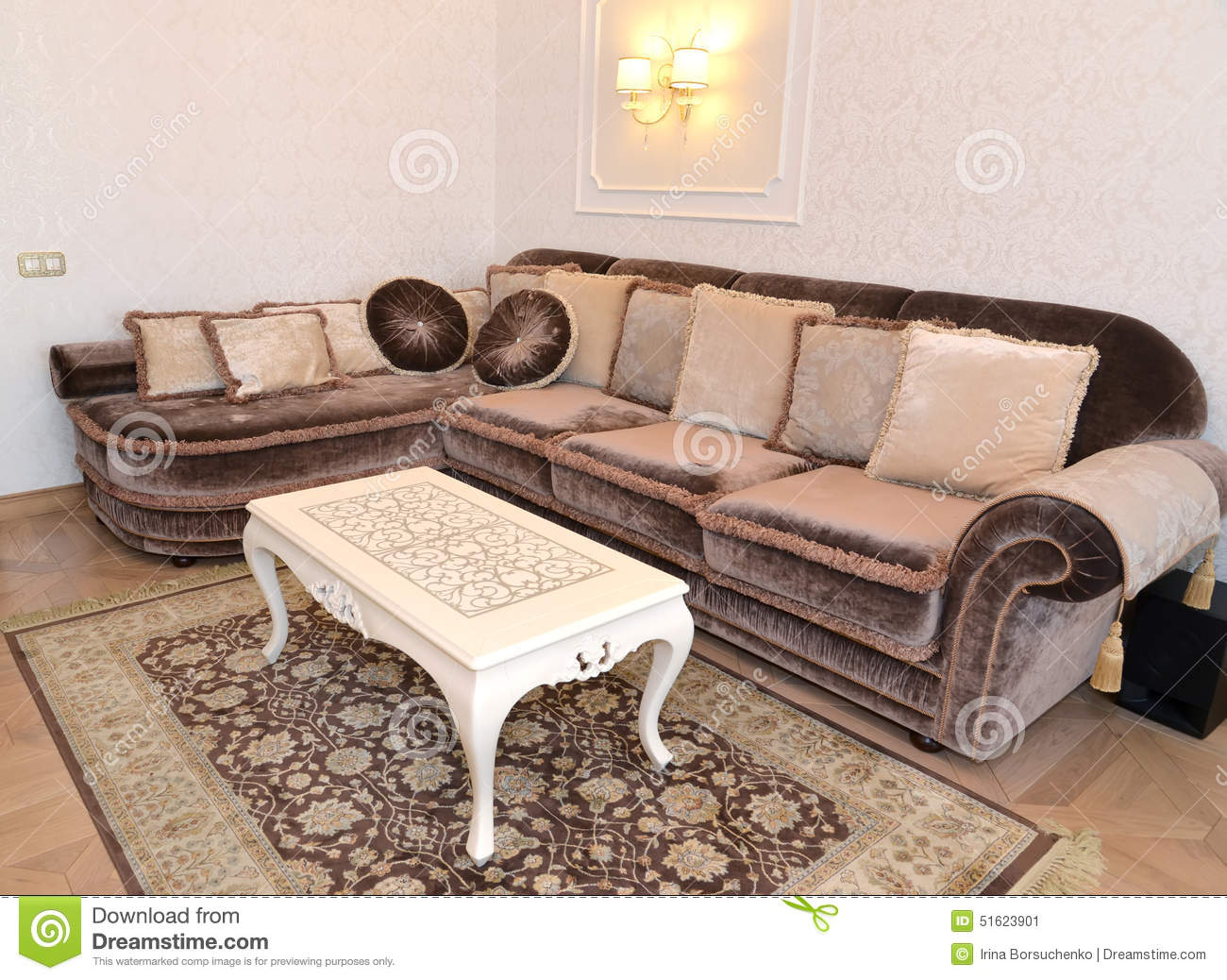 Drawing Room Furniture Furniture In A Modern Classical Drawing Room Stock Image Image