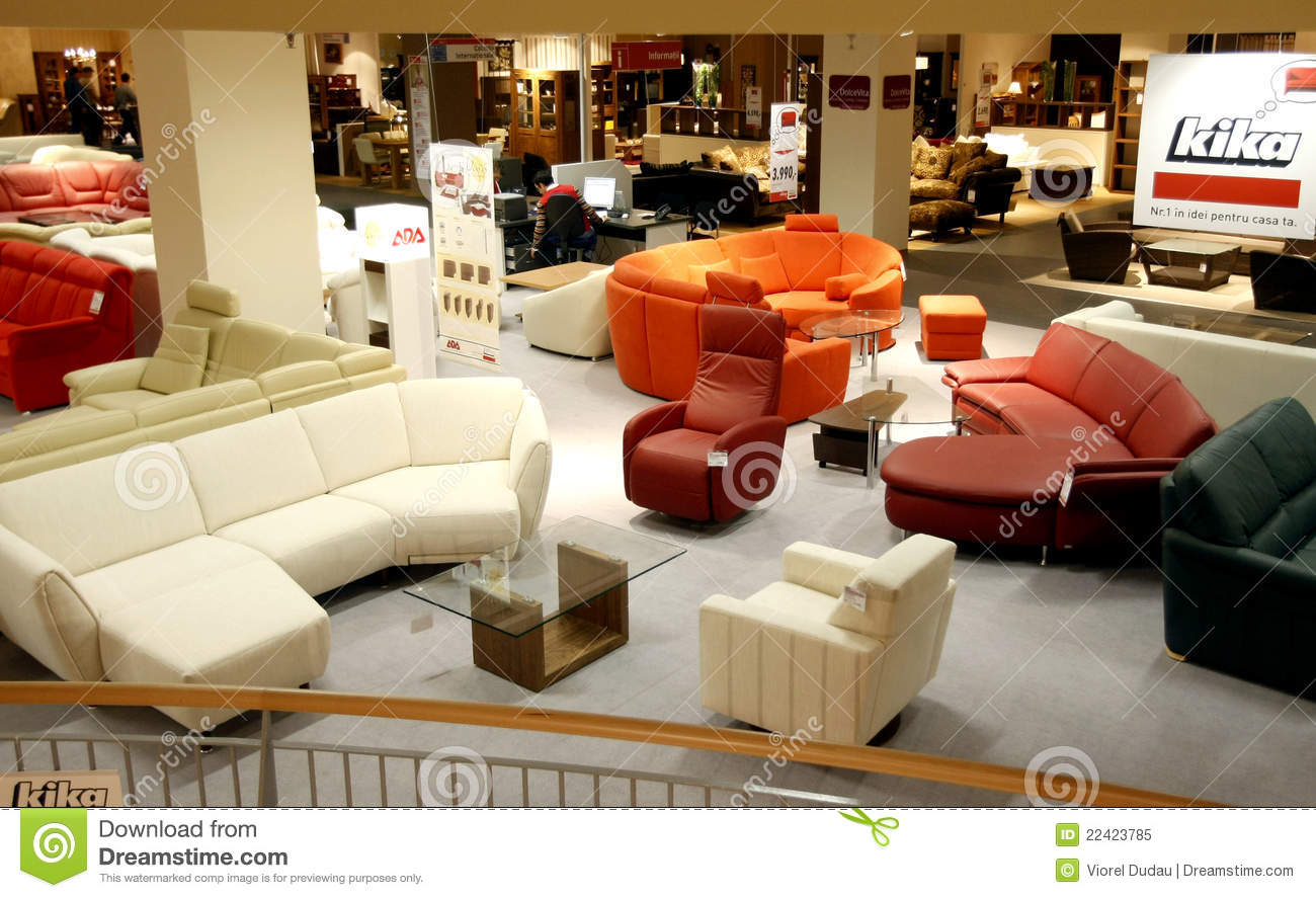 Sofas Kika Furniture Store Editorial Image Image Of Modern Mall 22423785