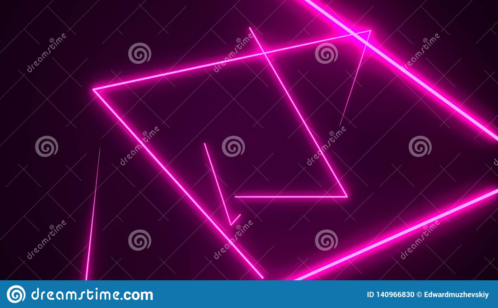 V J Futuristic Hud Triangle Tunnel Vj Background 4k Neon Motion