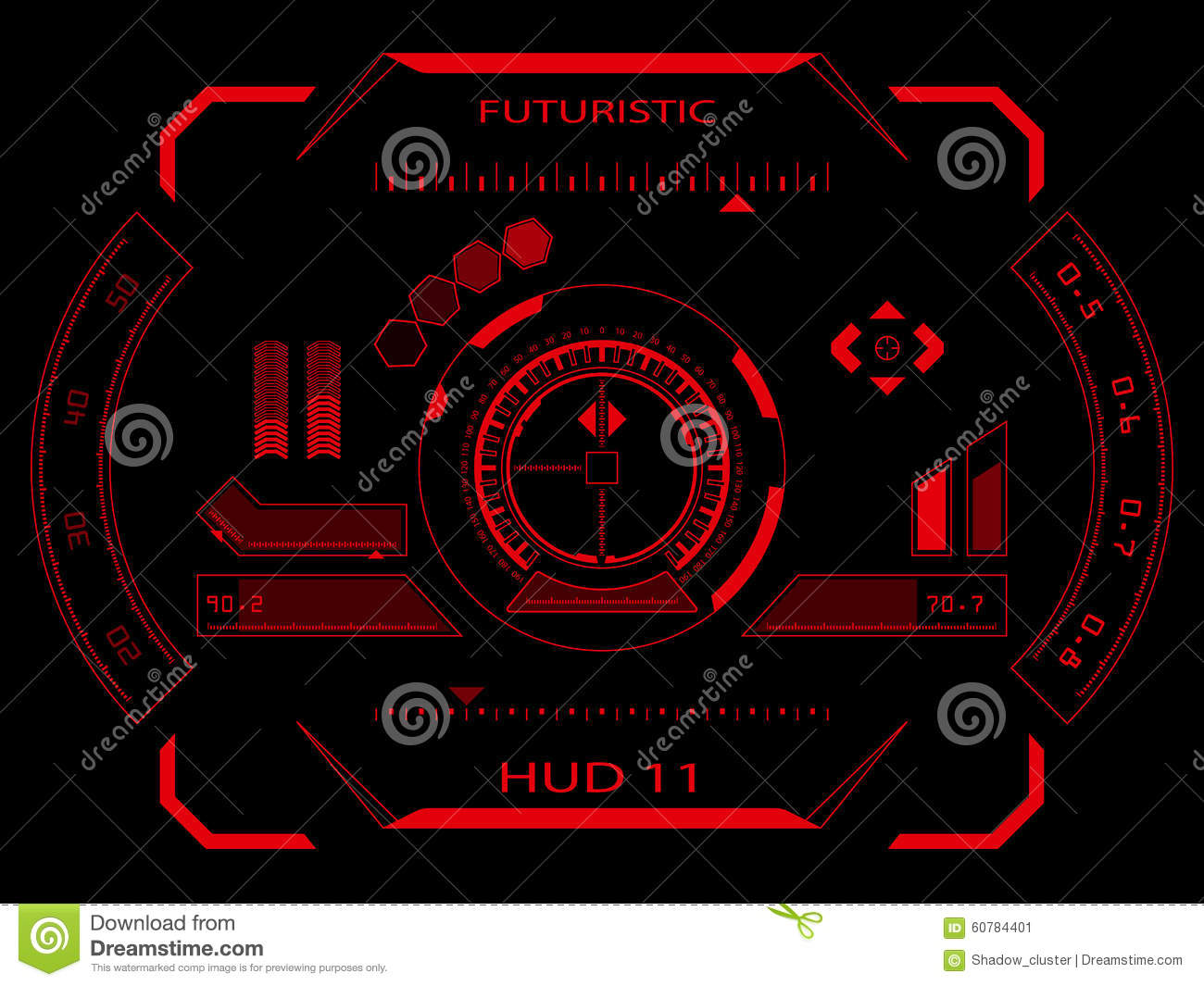 Hologram Wallpaper Hd Futuristic Touch Screen User Interface Hud Stock