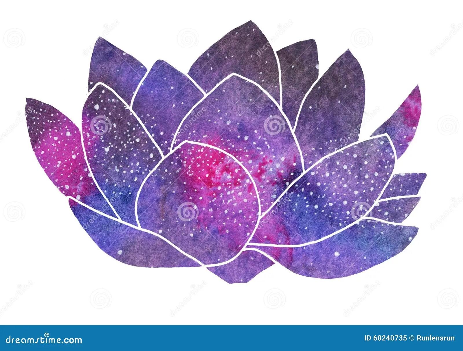 Cute Buddha Wallpaper Galaxy Lotus Hand Drawn Cosmic Flower Stock Image Image