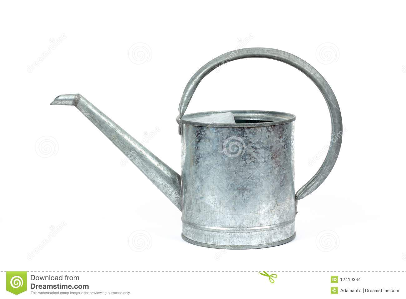 Galvanized Watering Cans Galvanized Watering Can Stock Images Image 12419364
