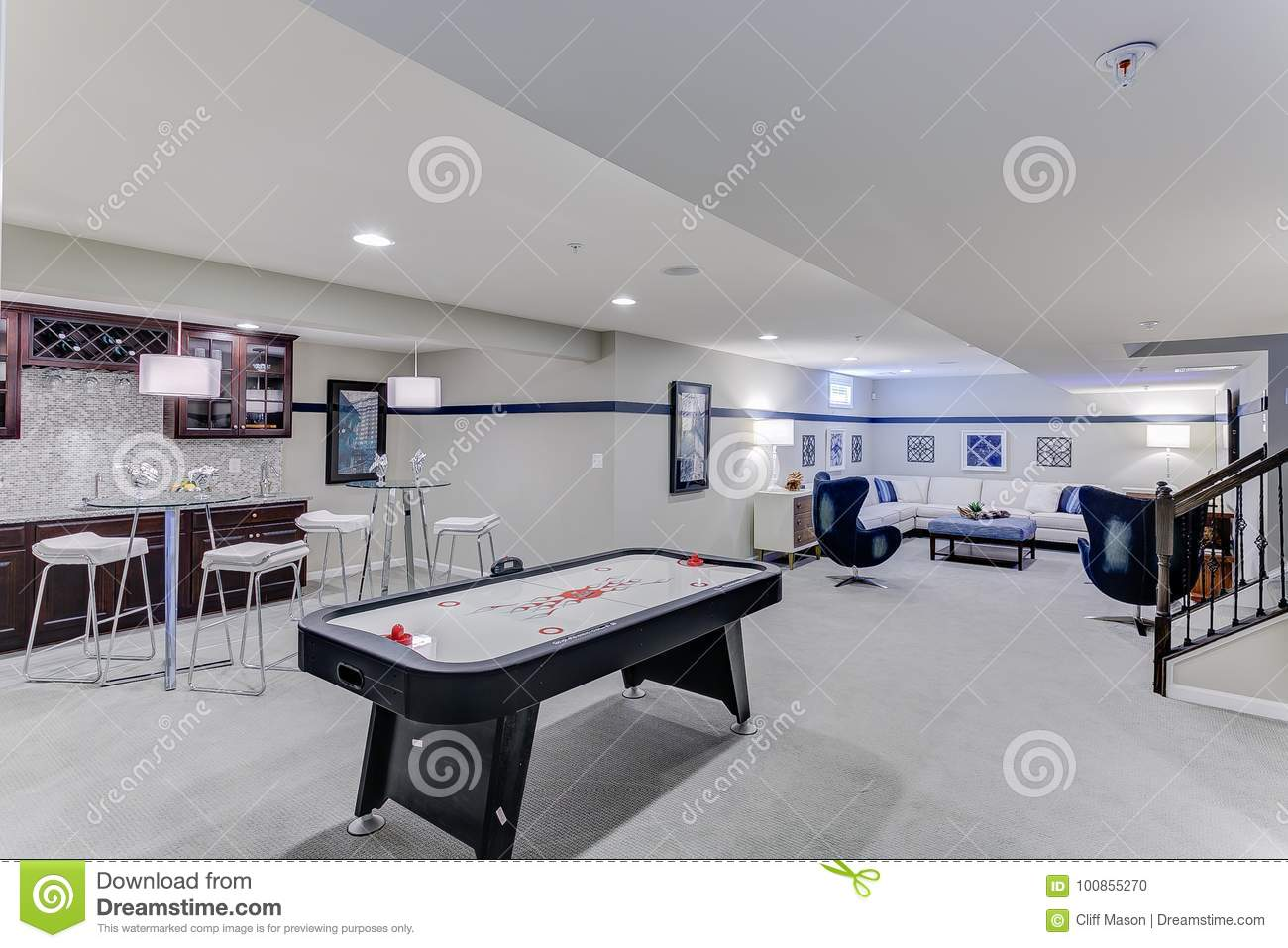 Game Room For The Family Stock Photo Image Of Basketball 100855270