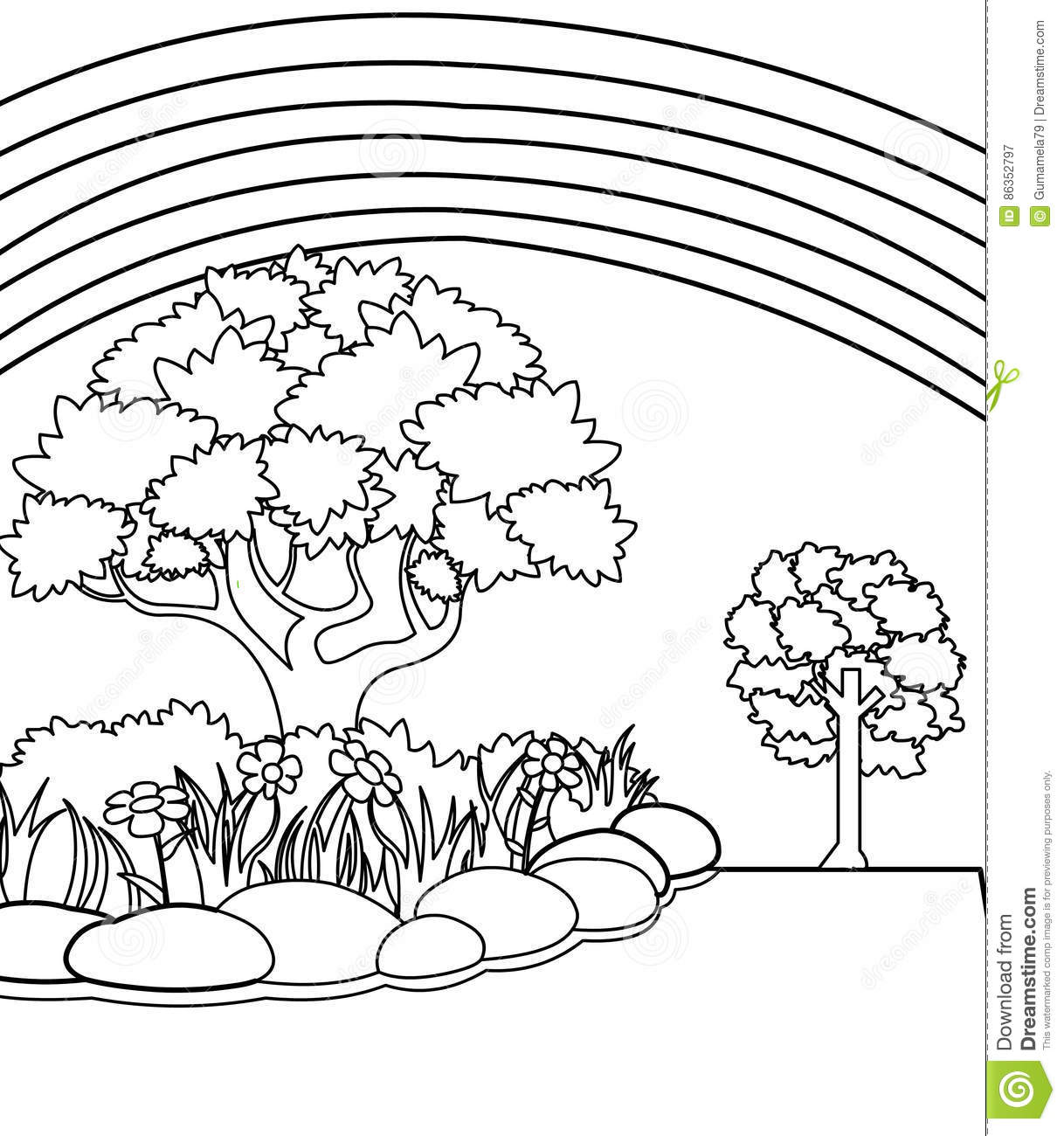Coloring pictures of flowers and trees - Download
