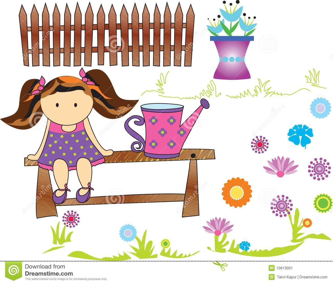 garden doll stock image image 10613001 download