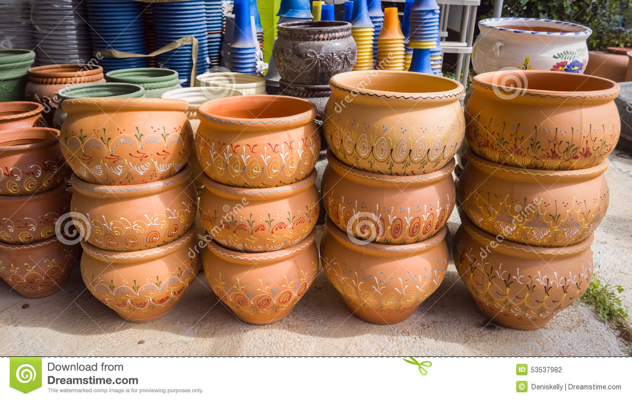 Plant Pot Sale Garden Plant Pots Stock Photo Image 53537982