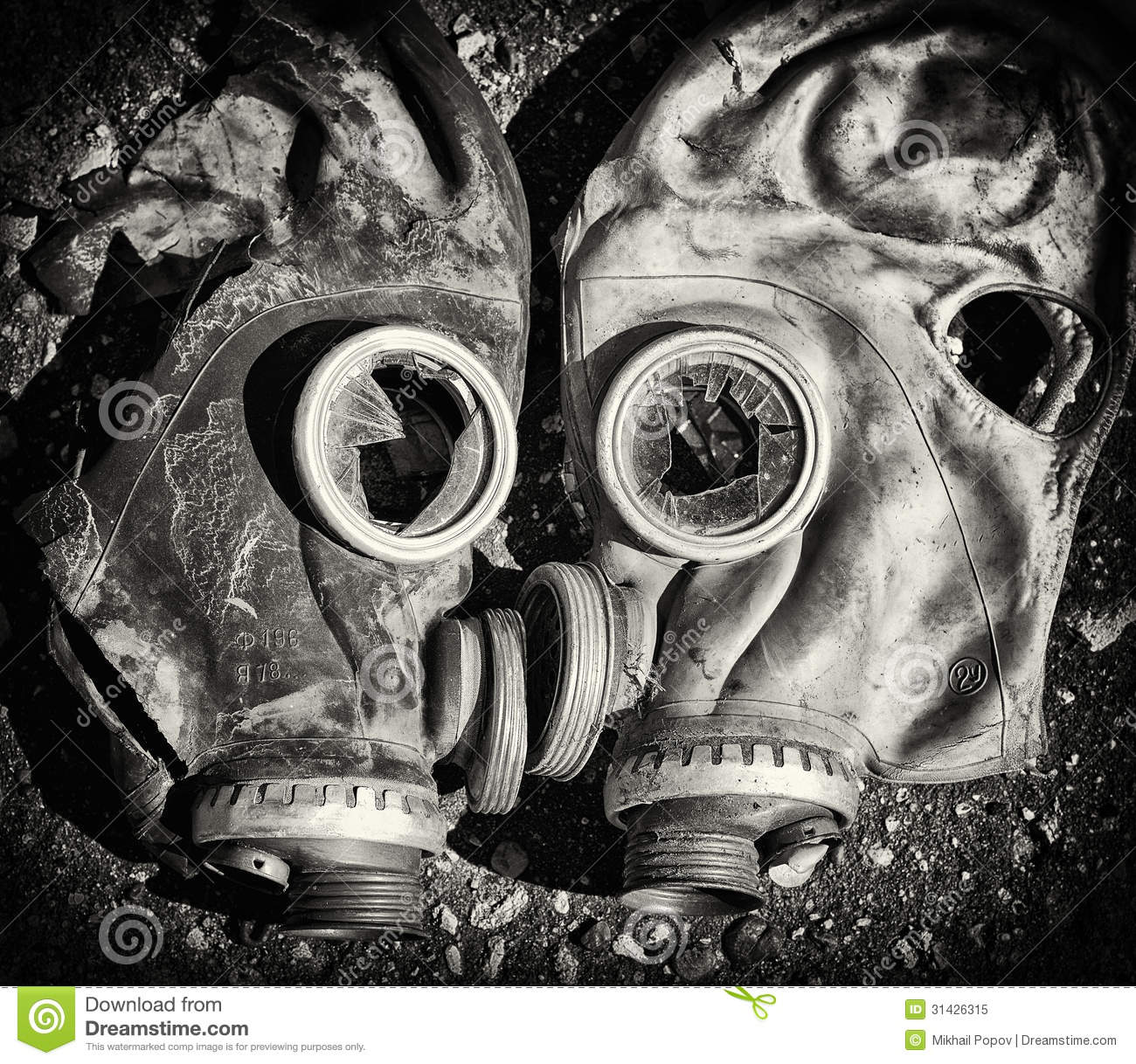 3d Broken Glass Wallpapers Gas Masks Royalty Free Stock Photo Image 31426315