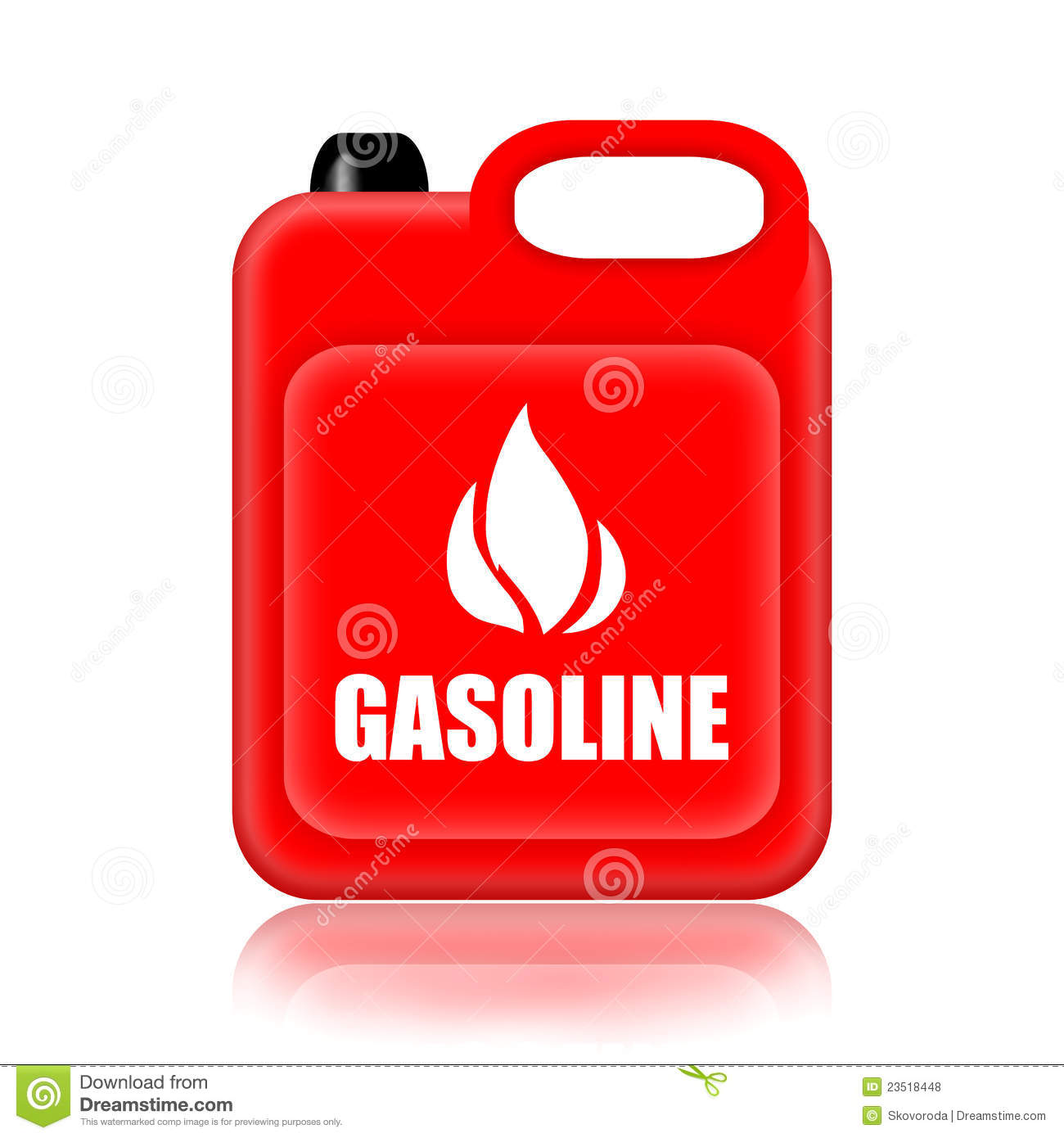 Benzine Jerrycan Gasoline Jerrycan Stock Illustration Illustration Of