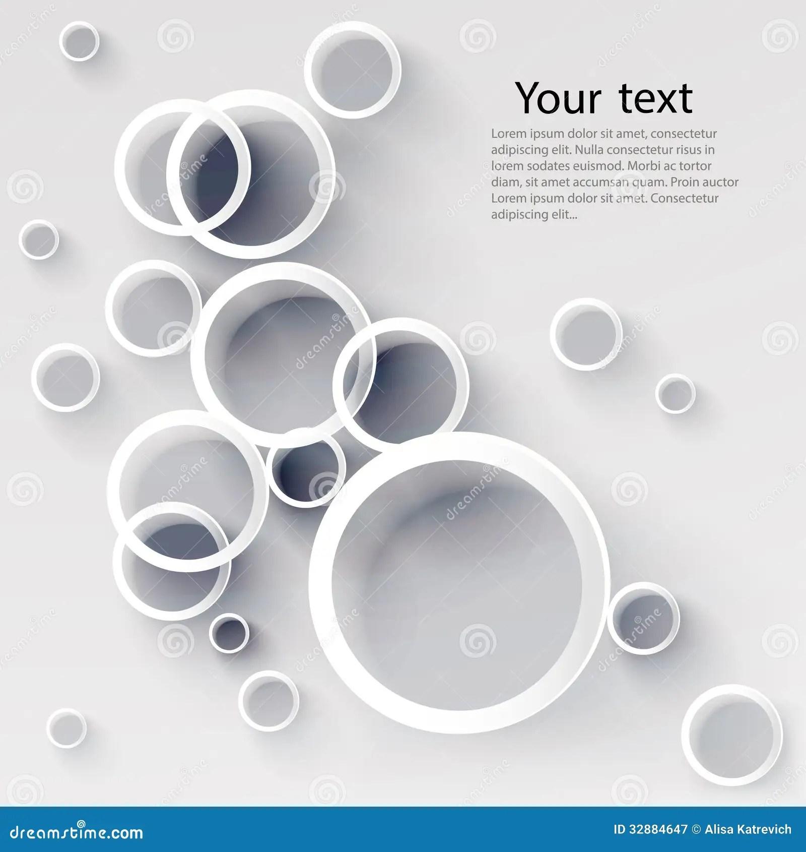 Elegant 3d Desktop Wallpaper Geometric Applique Circle Background Royalty Free Stock