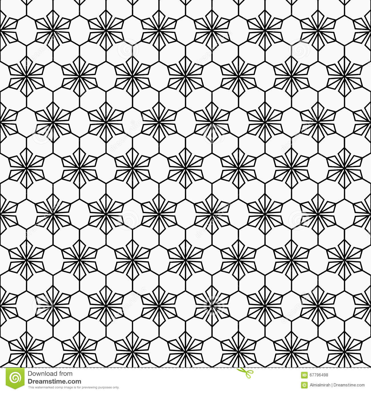 Geometric Flower Seamless Pattern Stock Vector Illustration Of Background Patterns 67796498