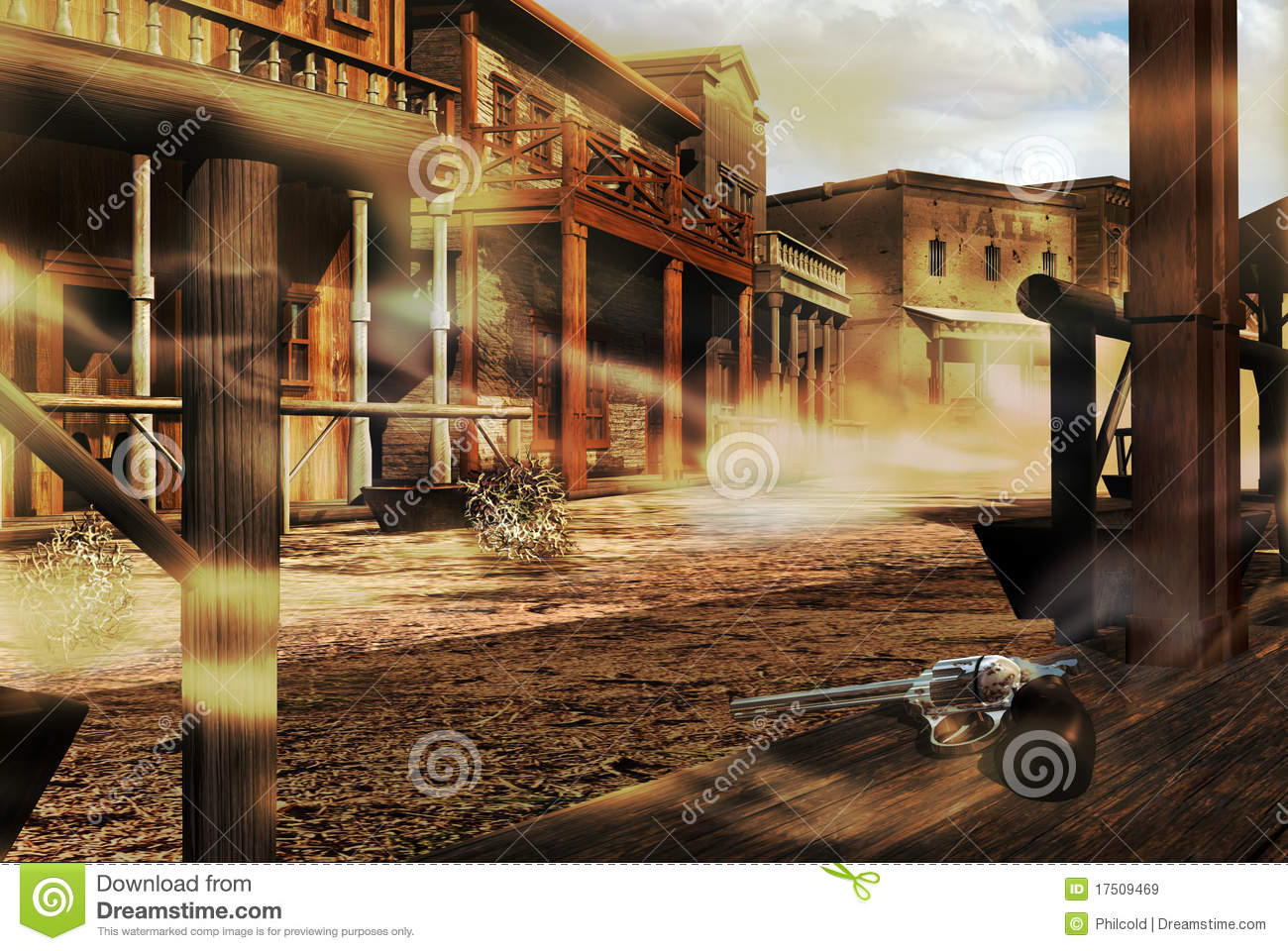 Free Wallpaper Old Cars Ghost Western Town Stock Illustration Image Of City