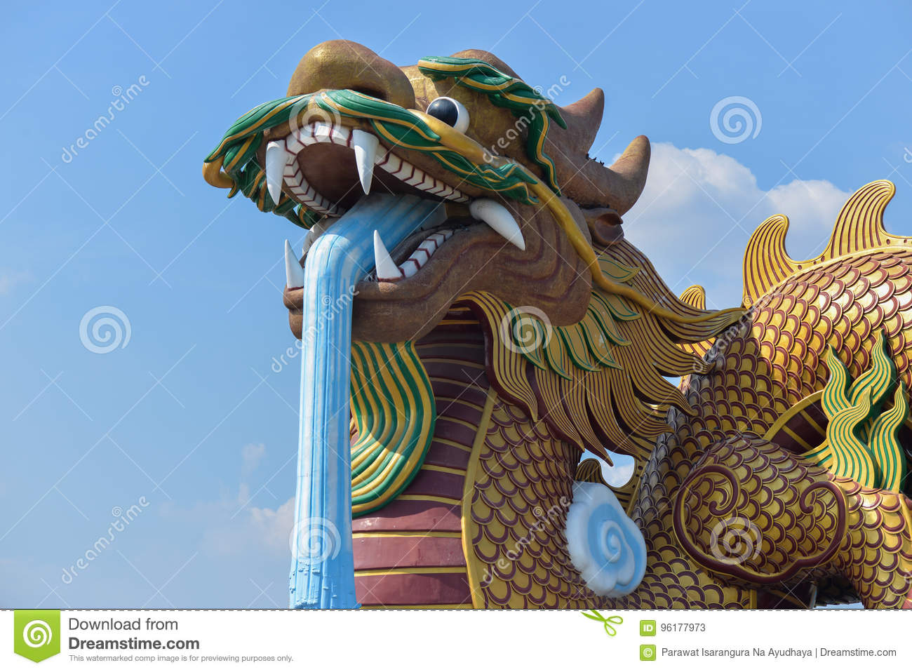 Giant Dragon Statue Giant Chinese Dragon Statue In Thailand Stock Image Image Of