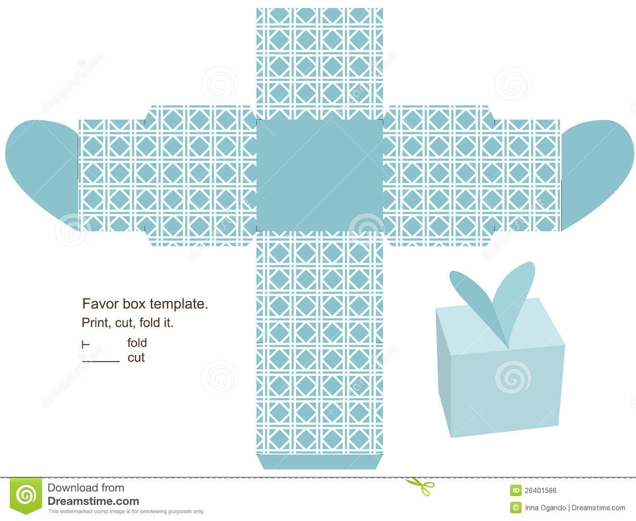 Gift Box Template Stock Vector Illustration Of
